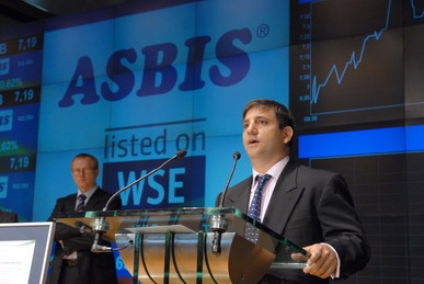 ASBIS CFO Marios Christou at IPO in Warsaw